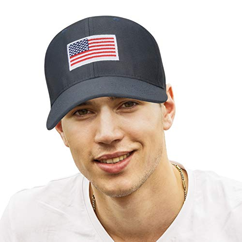 7ab69dceafe American Flag Sun Cap Adjustable Patriotic Sports Tennis Baseball Golf Hat  for Men Women