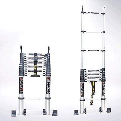 Escalera Telescópica Portátil - Extensión Extensible De Aluminio Escalera Trapezoidal Plegable, Carga 330 Libras, En Línea con Las Normas En131 Y CE,3.1M: Amazon.es: Jardín