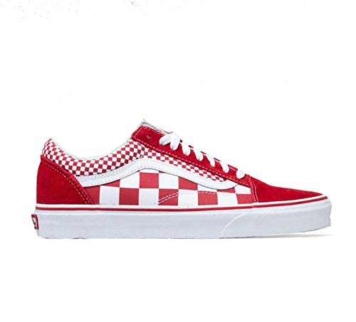 Vans Old Skool Mix Checker Chili Pepper (6.5 M US Women / 5 M US Men, Mix Checker Chili Pepper)