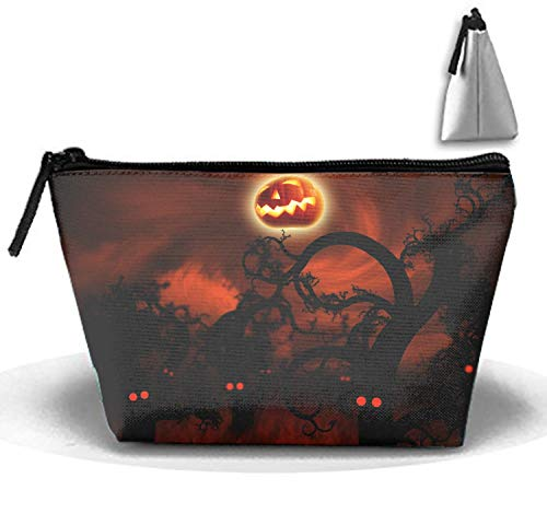 Midnight Forest Halloween Cosmetic Bag Fashion Makeup Bags Travel Case with Handle