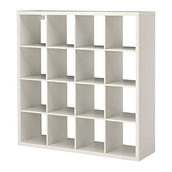 Ikea Kallax. En color blanco; (147 x 147 cm); compatible con Expedit: Amazon.es: Hogar