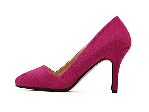 Red High Suede Heel Womens Pump Renly Rose wEqCYvnn