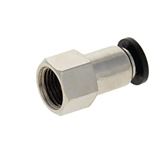 uxcell Push to Connect Tube Fitting Adapter 4mm Tube OD x G1//8 Female Straight Pneumatic Connecter Connect Pipe Fitting 5pcs