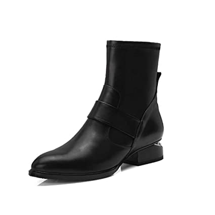 701b35b8dc501 Amazon.com: YaXuan Women's Booties, Leather Chelsea Boots, Women ...