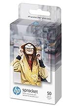 Hp Sprocket Zink 1De37A - Papel Fotográfico Adhesivo (50 Hojas, 5 X 7,6 cm/2 X 3 Pulgadas, Acabado Satinado)