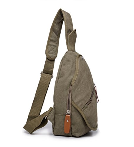 Shoulder Sportsman Small Laidaye Men Chest 5 A Messenger Casual Bag Canvas Riding 00YqHB