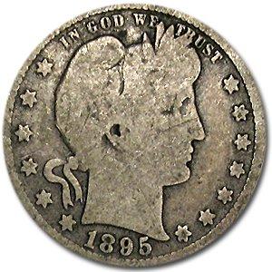 1895 Barber Quarter Good/VG Quarter Good