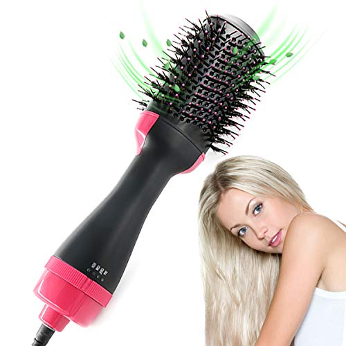 Dekugaa Hair Dryer Brush, Hot Air Brush,One Step Hair Dryer & Volumizer 3 in 1 Upgrade Feature Anti-scald Negative Ion Hair Straightener Brush with Smooth Frizz and Ionic Technology