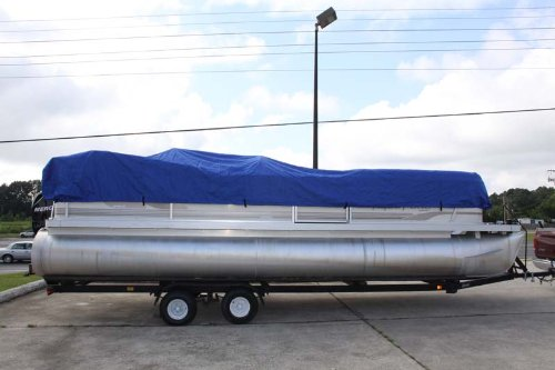 BRAND NEW *BLUE* 16' VORTEX ULTRA PONTOON BOAT COVER, HAS ELASTIC AND STRAPS FITS 14'1'' 15 FT TO 16 FT LONG DECK, up to 102'' beam (FAST SHIPPING - 1 TO 4 BUSINESS DAY DELIVERY) by Vortex