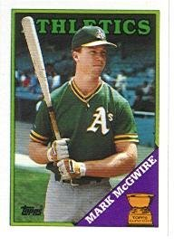1988 Topps Mark Mcgwire Baseball Card 580 Shipped In Protective