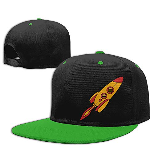 (Roing Bo Red Yellow Rocket Spaceship Hip Hop Hat Cotton Baseball Caps Boy&Girl)