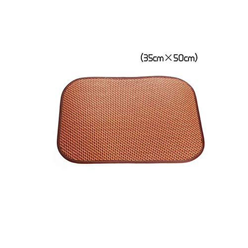 Soft Cooling Pet Dog Mat Pad for Kennels Crates and Beds Puppy Bamboo Ice Mat for Keeping Dogs Cool in Summer Breathable Brown,Large Rectangle,as Show