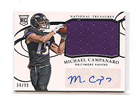 2014 Panini National Treasures Autograph Jersey  270 Michael Campanaro  99  at Amazon s Sports Collectibles Store e760b3ecd