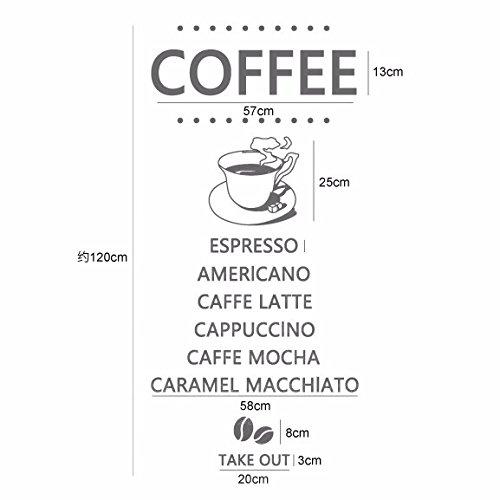 SecondStep Café Café De Caligrafía Inglesa Decora El Vidrio Para ...