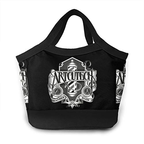 Sign Light Barber Shop Art Lunch Bag Insulated Lunch Bag Leak Proof Lunch Tote Bag For Women Men Aduts Kids Work Hiking Beach Picnic Fishing Shopping School Camping -