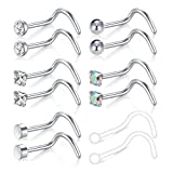 MODRSA 20g 18g Nose Rings Studs Surgical Steel