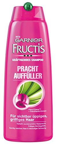 Garnier Fructis Prachtauffüller kräftigendes Shampoo / Haarshampoo für sichtbar üppiges, griffiges Haar (mit Fibra-Cylane & Granatapfel-Extrakt) 6er Pack - 250 ml