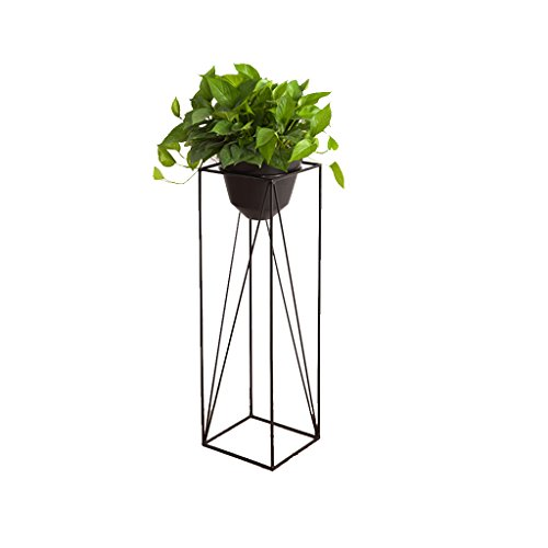 Nordic Flower Shelf Multi-Layer Indoor Balcony Rack Wrought Iron Living Room Flower Pot Floor-Standing Green Plant Multi-Function Space Three Types to Choose from (Size : Extra Large)