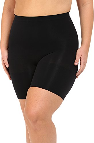 - SPANX Women's Plus Size Power Shorts, Black, 1X
