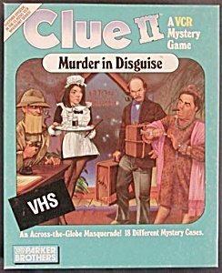 Clue II Murder in Disguise - A VCR Mystery Game by Parker Brothers