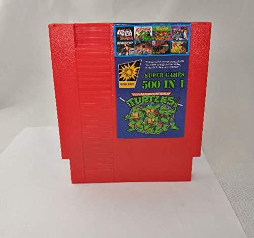 500 in 1 Super Video Games Multi Cartridge 72 Pin - RED. Batman, Spiderman, Contra, Mario, Pacman TMNT + More!