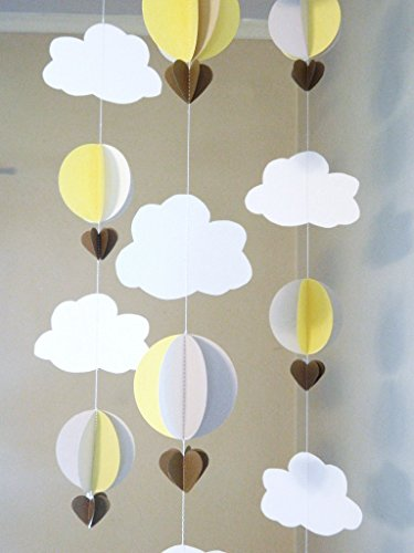 Hot Air Balloon Garland / Up Up and Away Baby Shower Decor /