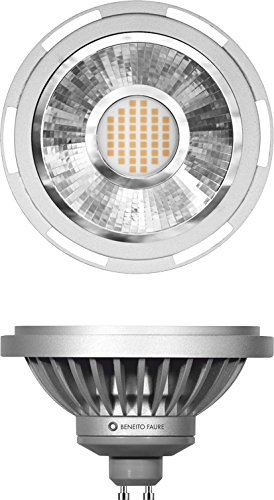 Beneito&Fauré - Bombilla Led Samsung 12 Watios AR111, casquillo GU10 230V y 45º. Colección