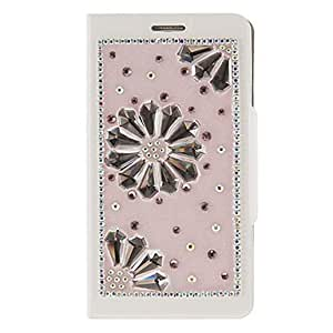 conseguir Modelo rosado Diamante PU bolsas de cuero con soporte plegable para Samsung Galaxy Nota 3 N9000