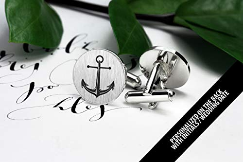 Anchor Cufflinks - Anchor jewerly for men - Beach Wedding Cufflinks for groom