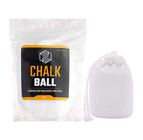 Chalk Ball (Refillable) - Sports Chalk - Superior Grip and Sweat-Free Hands for Weightlifting, Rock Climbing, Bouldering, Gymnastics, Pole Dancing and Fitness, Crossfit and Bodybuilding