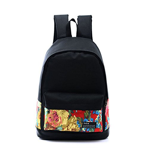 Printing Preppy Backpack Style Hrph Laptop Women Rucksack 5 Vintage Bags For Book Fahsion nAqZZHxF
