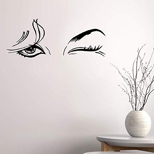 Yervt Quotes Wall Sticker Mural Decal Art Home Decor Beautiful Woman Beauty Salon Female Eye Makeup Sexy Girl Wall -