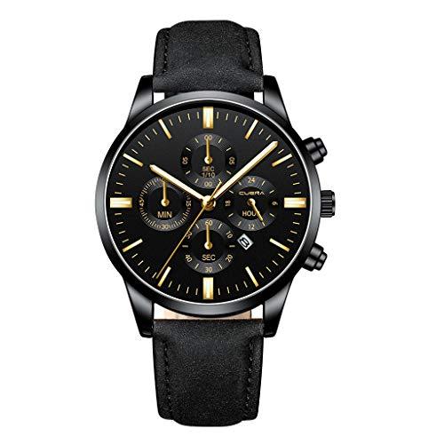 (YEZIJIN Men Military Sports Watch Luxury Analog Sport Leather Quartz Mens Watches Under 10)