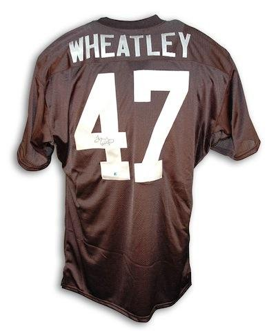 Tyrone Wheatley Autographed Jersey - Throwback Black - Autographed NFL Jerseys Autographed Nfl Throwback Black Jersey