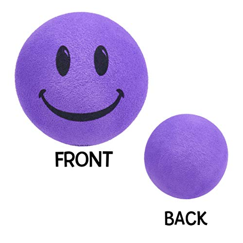 - Tenna Tops® Purple Smiley Face Car Antenna Topper / Antenna Ball / Mirror Dangler
