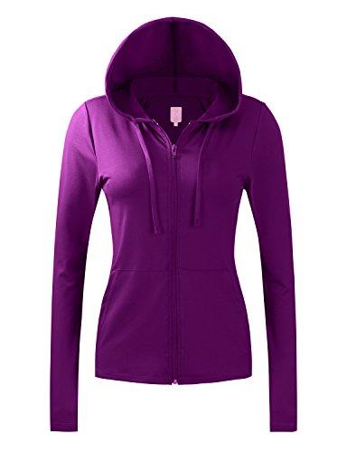 Ladies Active Hooded Jacket - 1