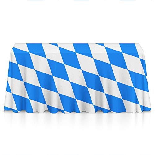 NiYoung Bavaria Flag Rectangular Table Cloths Polyester Spillproof Stain Resistant Table Cloths - Seasonal Decor, Restaurant, Dinner Parties Table - Bridal Rose Bavaria