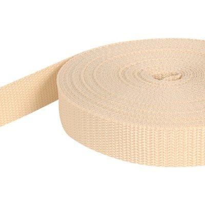 creme UV 10m PP Gurtband 1,4mm stark 30mm breit