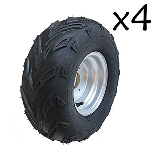 WPHMOTO 4PCS 16X8-7 ATV Tire and Rim Tubeless | Front or Rear Tires with Rims for Go Kart UTV Quad Bike Buggy Utility -