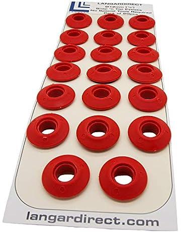 Langard - Ojales de 12 mm, color rojo, 20 unidades