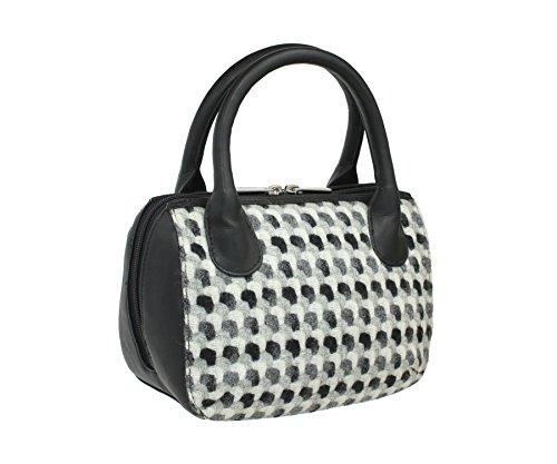 pour Noir Noir 7101 Mala femme Noir Sac main Leather à 40 WggqIT