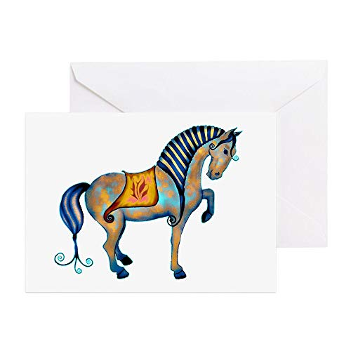 (CafePress Tang Horse Two Transp Greeting Card, Note Card, Birthday Card, Blank Inside Matte)