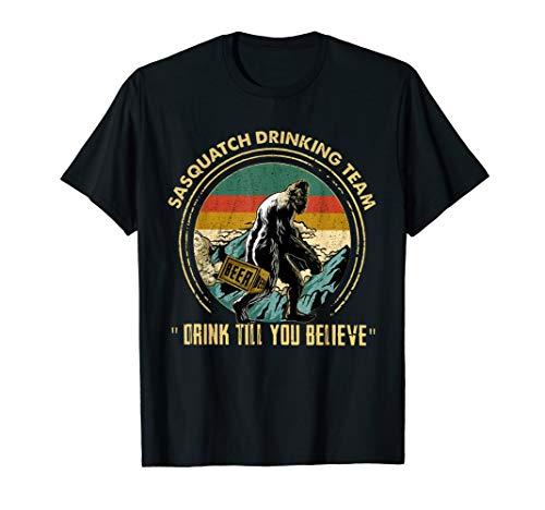 Bigfoot Sasquatch Drinking Team Drink Vintage T-Shirt
