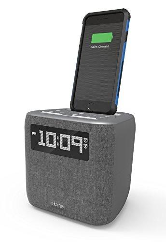iHome iPL8XHG Dual Alarm FM Clock Radio with Lightning Dock