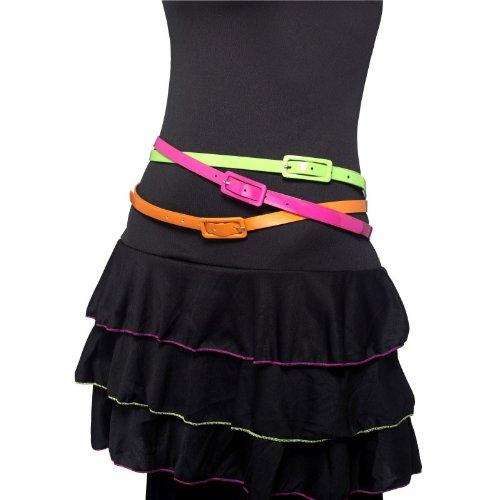 Neon Belts Costume Accessory (Group Superhero Costumes Uk)