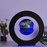 Leslaur 3.5 Inch Magnetic Levitation Floating Globe World Map Tellurion Anti Gravity with LED Light Round Shape Base for Home Office Desk Decoration Children Educational Gift