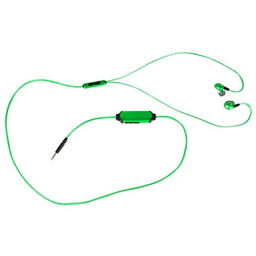 Pilot Electronics EL MSync Athl Earbud, Green Headphone (EL-1302G)