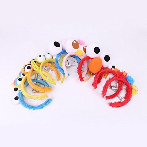 Sesame Street Elmo headband Funny little girl makeup wash hair bands hair accessories for women girl lady]()