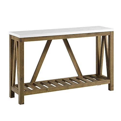 Farmhouse Wood Buffet - WE Furniture AZF52AFTMNW A- Frame Rustic Console Entry Table, 52