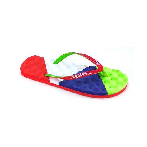 Frisky Chaussures Dames Confort Semelle Flip Flop Rouge